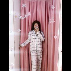 Đồ Bộ Pijama Lụa Phi Bóng