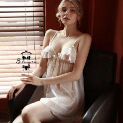 Đầm Ngủ Ren Trong Suốt - D099