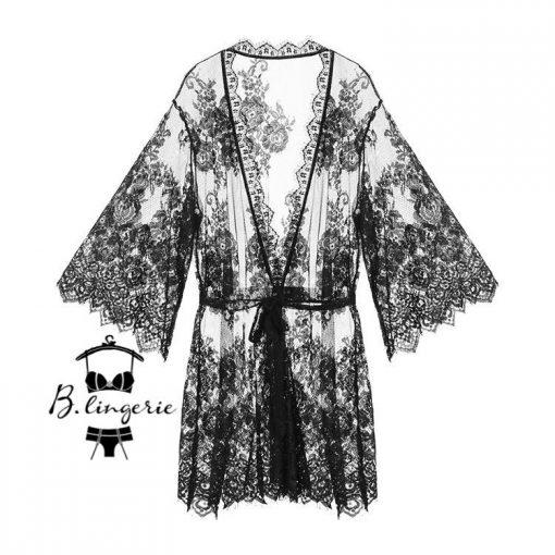 Áo Choàng Ngủ Ren Hoa