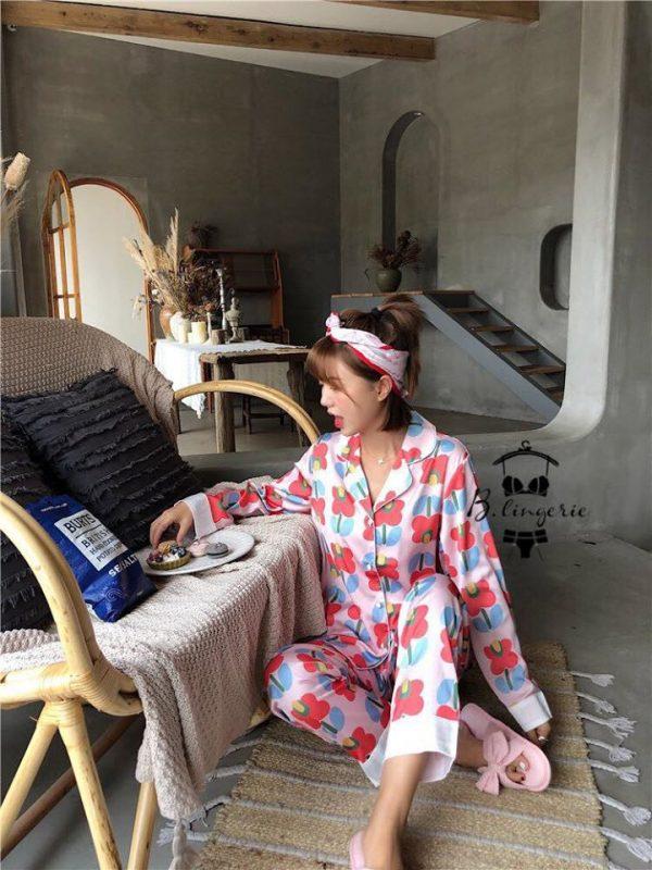 Đồ Ngủ Pijama Lụa Dễ Chịu