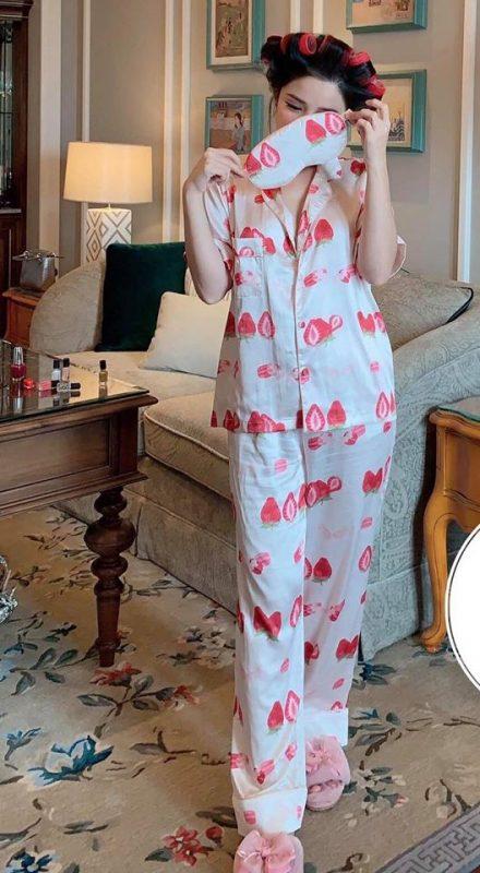 Pijama Lụa Dài Tay Trái Dâu - BO711