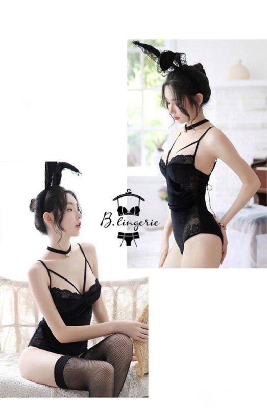 Cosplay Bodysuit Black