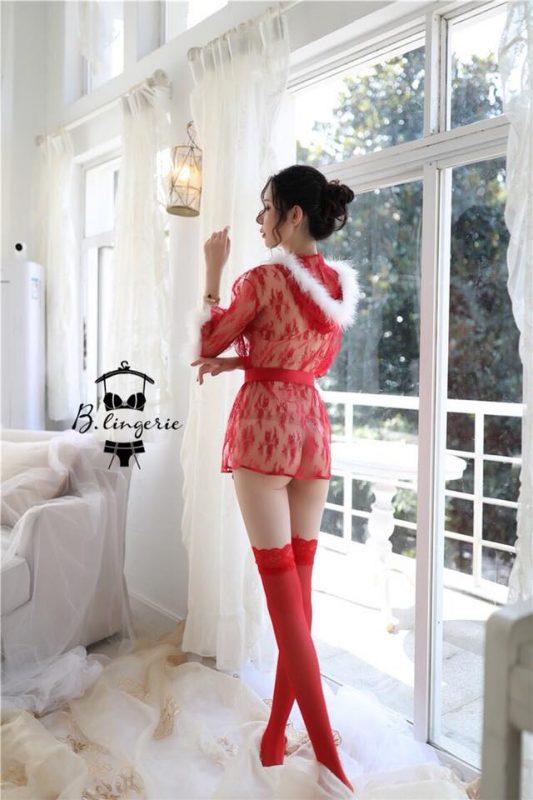 Áo Choàng Ren Đỏ