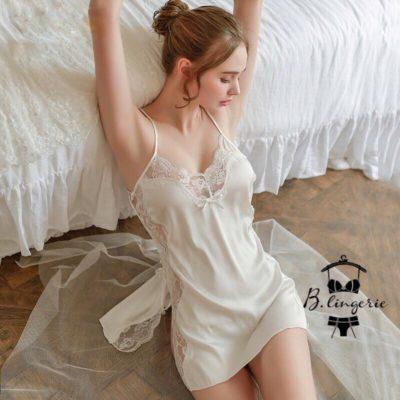 Váy Ngủ Cami Sexy Trắng - D741