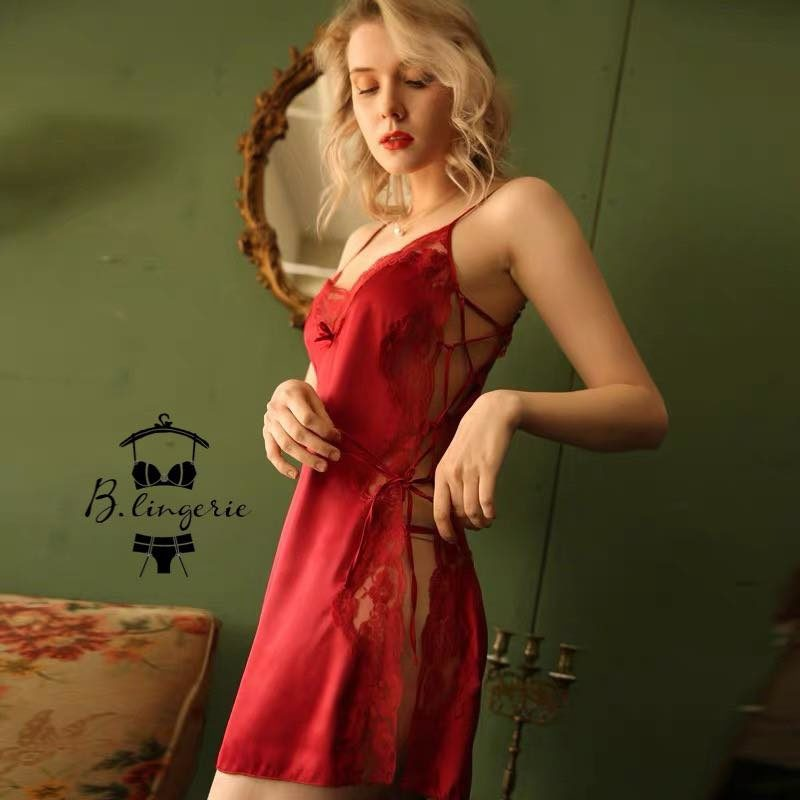Váy Ngủ Cami Sexy Đỏ - D741