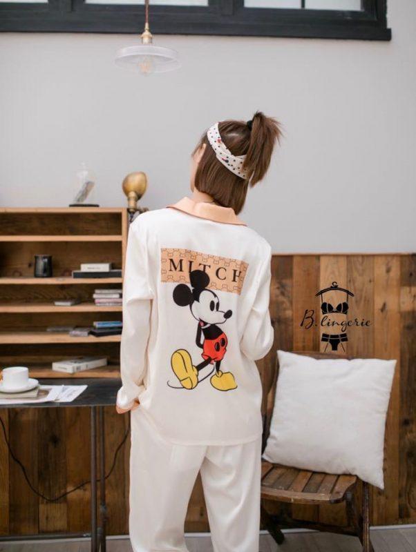 Pijama Mickey Trắng - B845