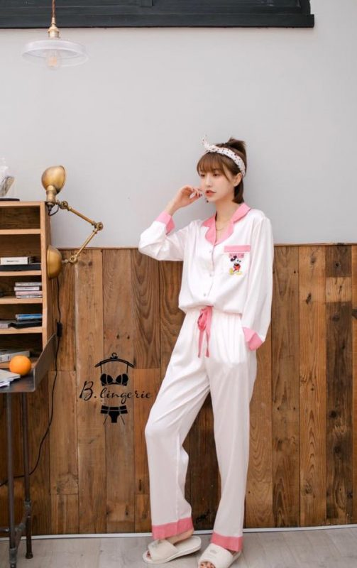 Đồ Ngủ Pijama Mickey Hồng - B845 -