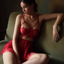 Váy Ngủ Ngắn Gợi Cảm Đỏ - D546