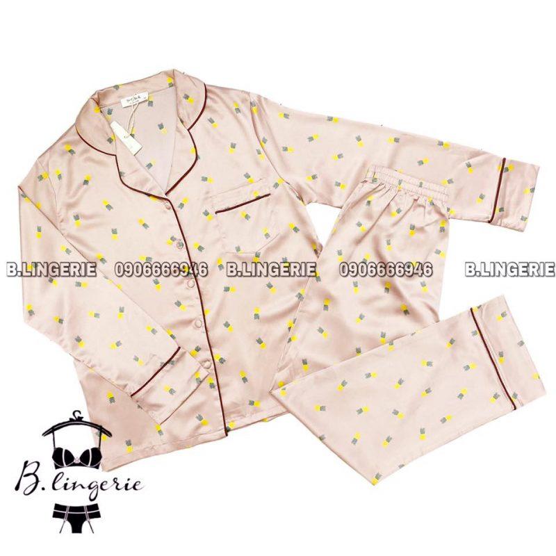 Đồ Ngủ Pijama Lụa Dài - B616