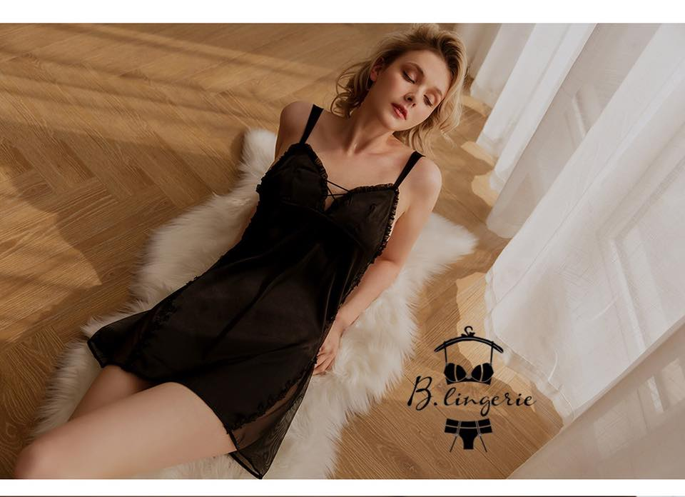 Váy Ngủ Lụa Satin Huyền Bí - D886