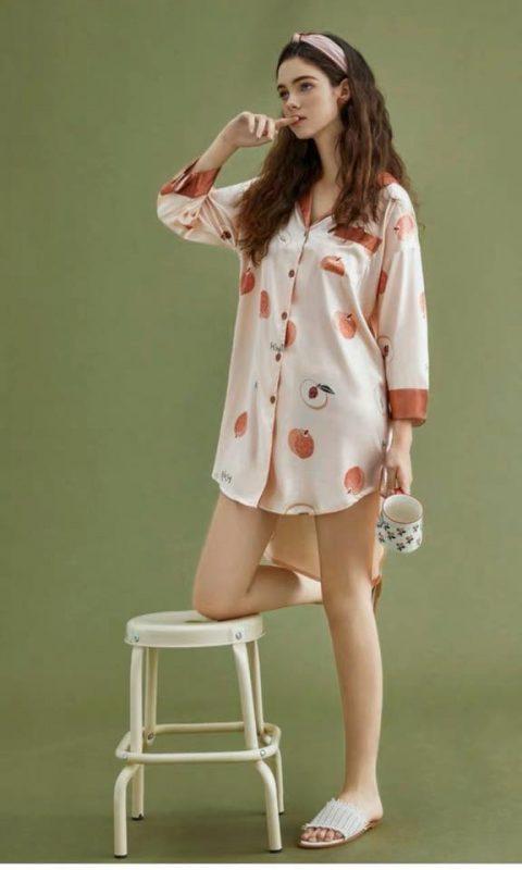 Váy Ngủ Sơ Mi Cute - D861