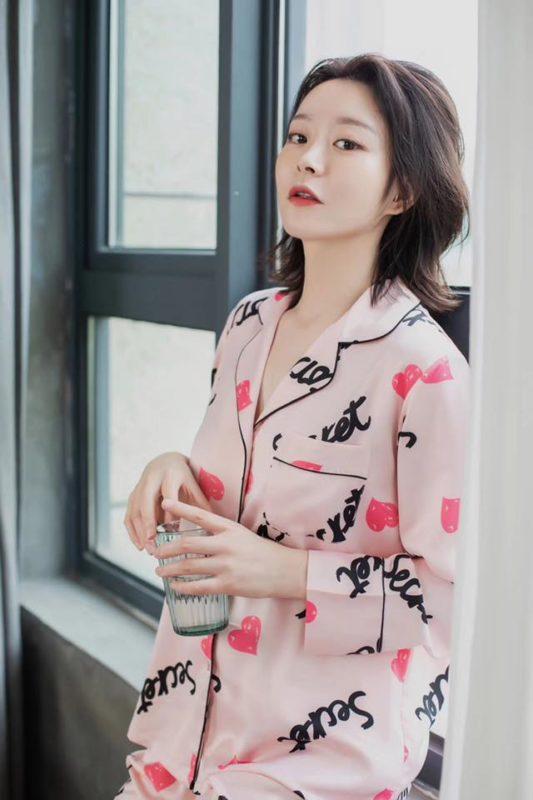 Pijama Nữ Dài Tay Hồng Dịu Dàng
