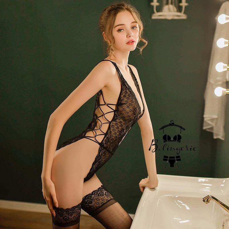 Bodysuit Cổ Chữ V Sexy