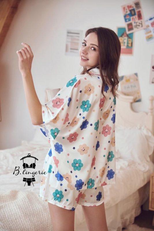 Đồ Pijama Ngắn Bông Hoa