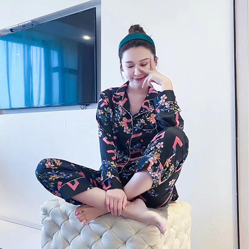 Pijama Nữ Dài Tay Đen