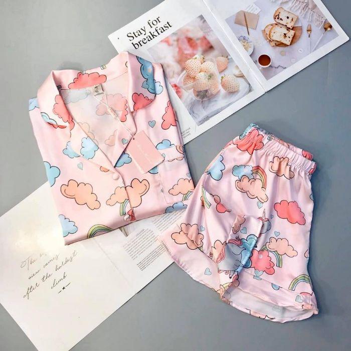 Pijama-ngan-tay-hoat-hoa-dang-yeu