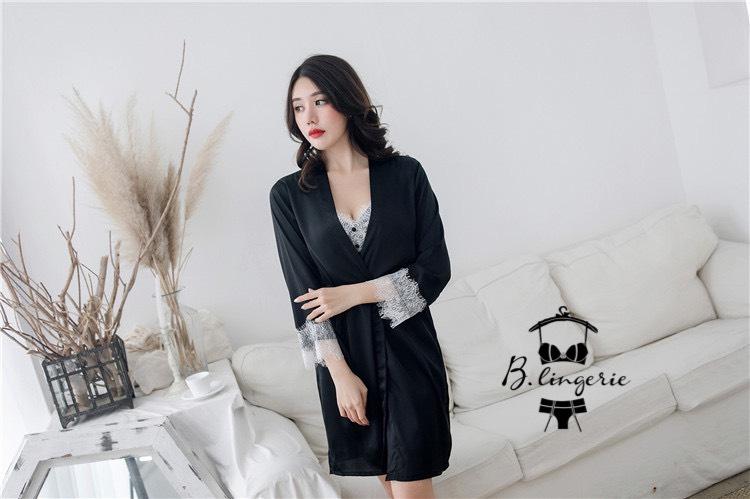 Váy Ngủ Đẹp Gợi Cảm & Áo Choàng Đen