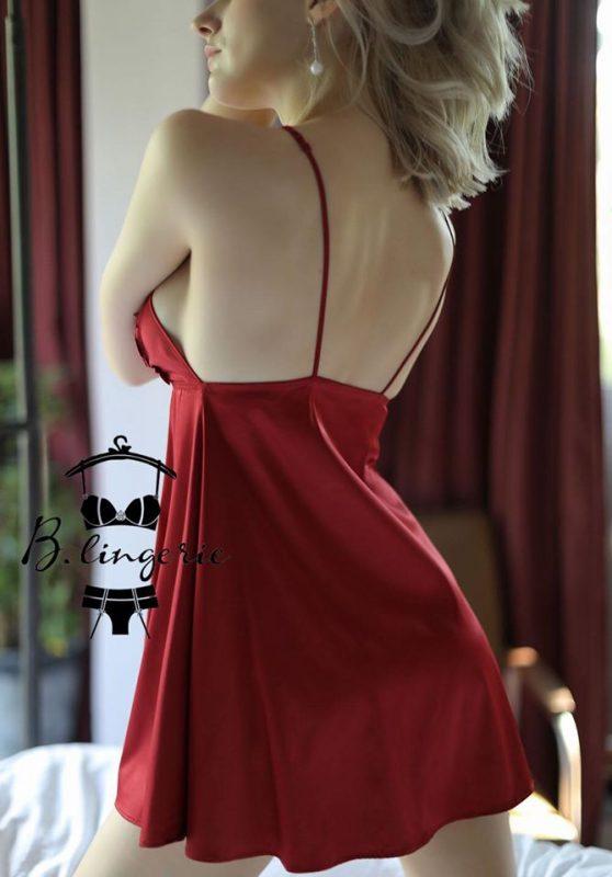 Váy Ngủ Lụa Hai Dây