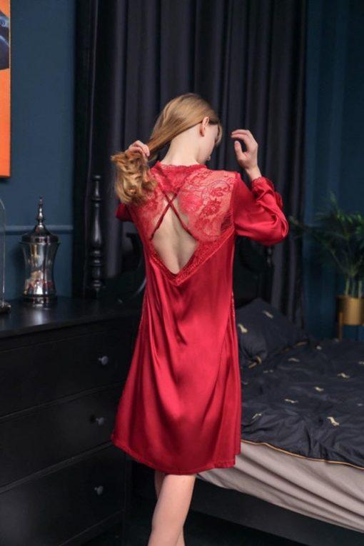 Váy Ngủ Kèm Áo Choàng Trắng - D859