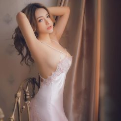 Váy Ngủ Satin Cao Cấp Hồng