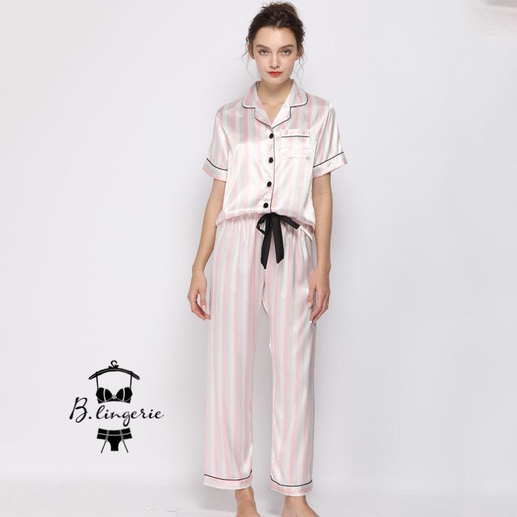 Đồ Ngủ Pijama Nữ Quần Dài Đen - BO747