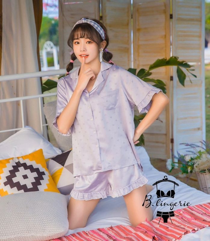 Pijama Nữ Ngắn Xám