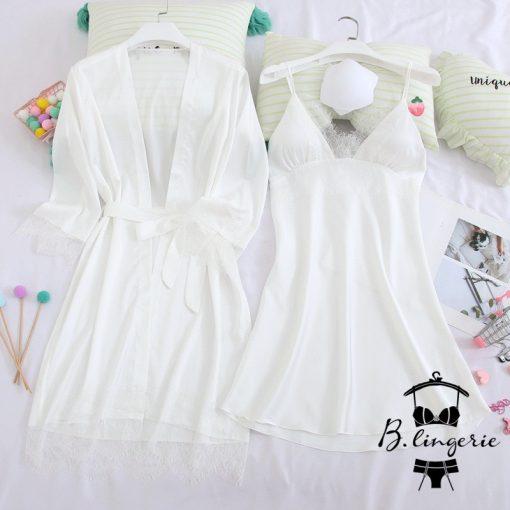 Váy Ngủ Kèm Áo Khoác