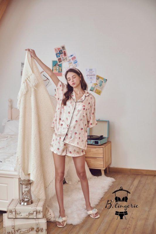 Pijama Ngắn Quả Dâu
