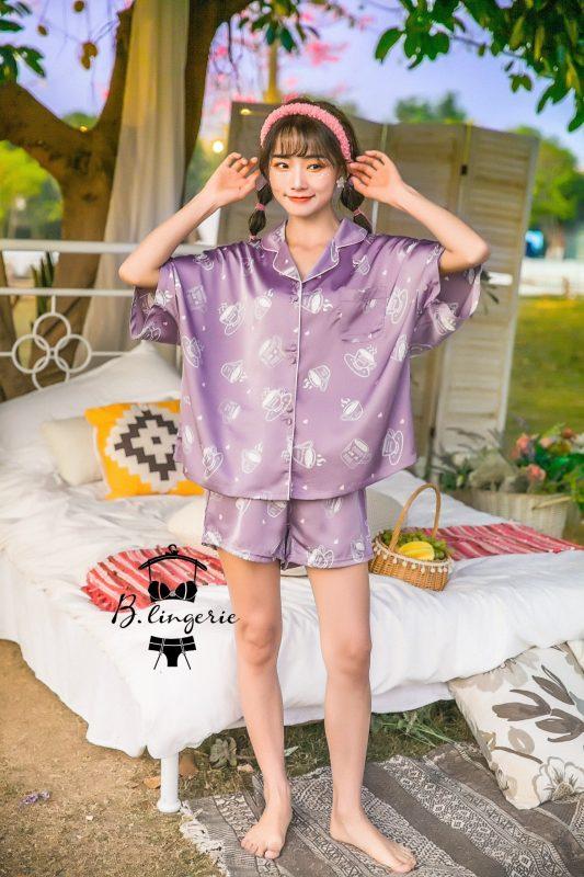 Pijama Ngắn Tách Trà