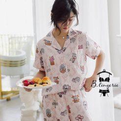 Pijama Quần Ngắn Dễ Thương