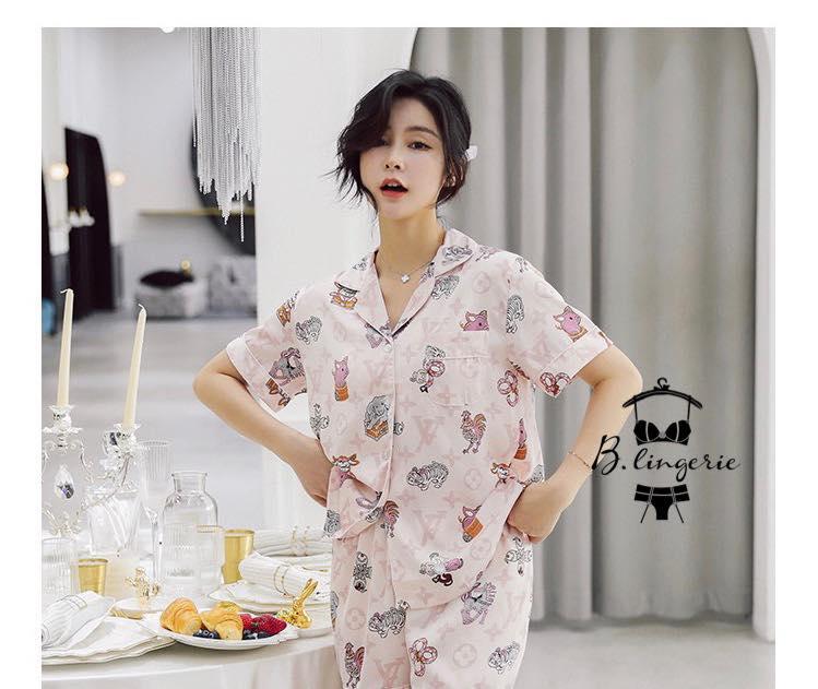 Đồ Bộ Pijama Tay Ngắn Quần Dài