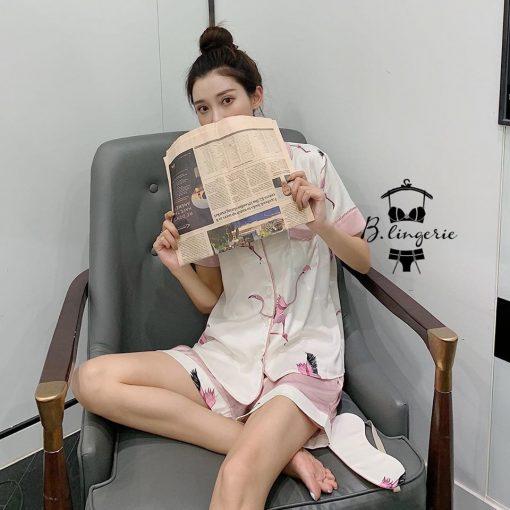 Đồ Ngủ Pijama Ngắn Dễ Thương