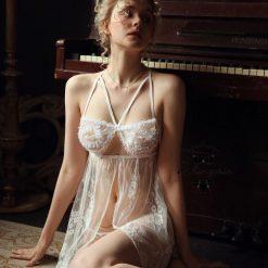 Váy Ngủ Lụa Trắng Sang Trọng