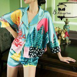 Đồ Bộ Pijama Phi Bóng Ngắn - BO925