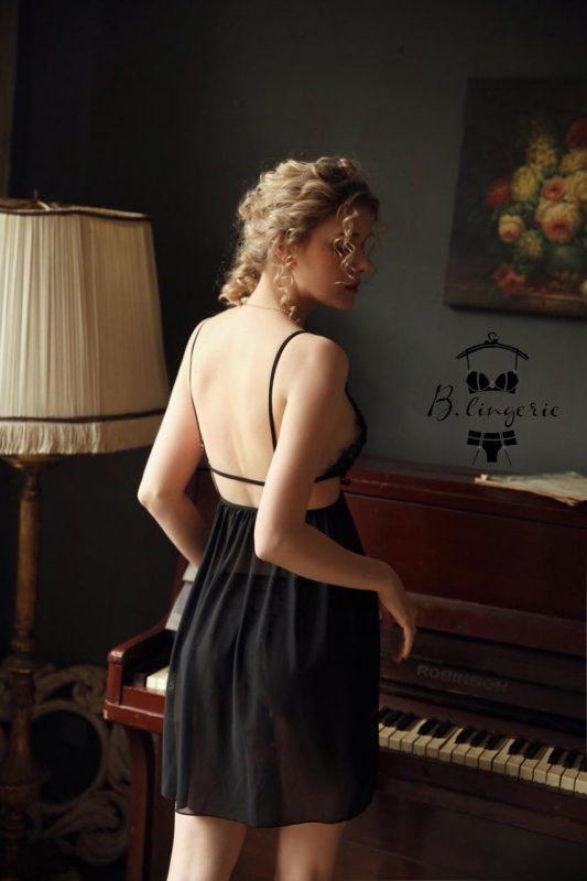 Váy Ngủ Xẻ Giữa
