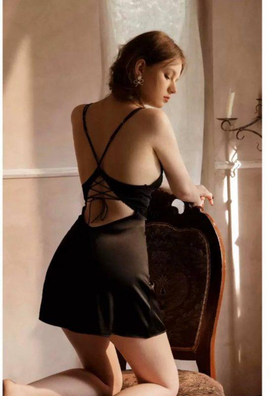 Váy Ngủ Mát Mẻ Quyến Rũ Đen