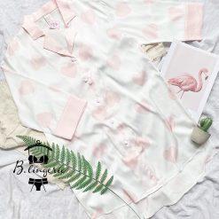 Váy Ngủ Pijama Tim Trắng