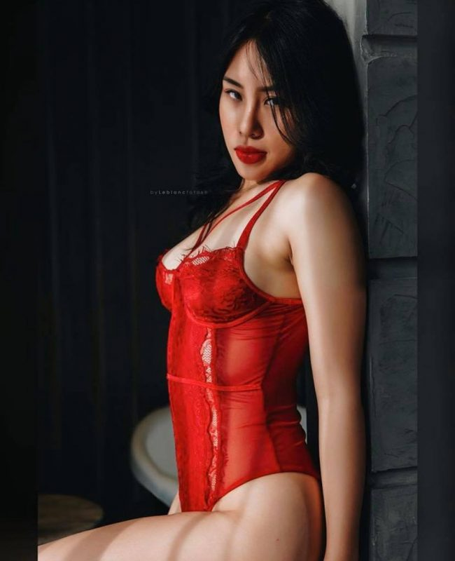 Bodysuit Ren Đỏ Gợi Cảm