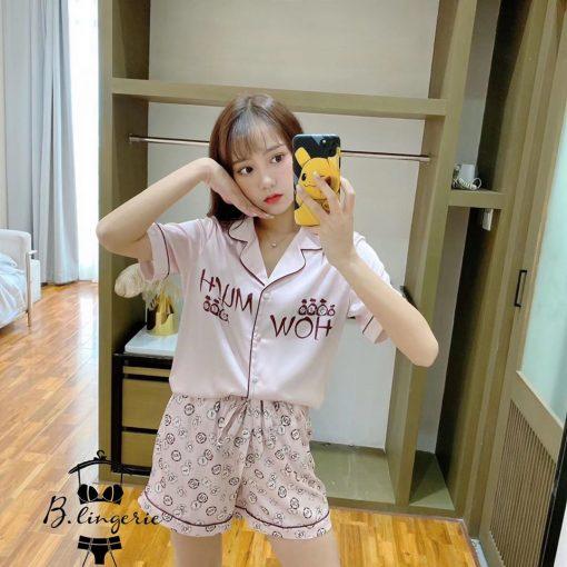 Đồ Bộ Ngủ Pijama Ngắn Dễ Thương - BO967