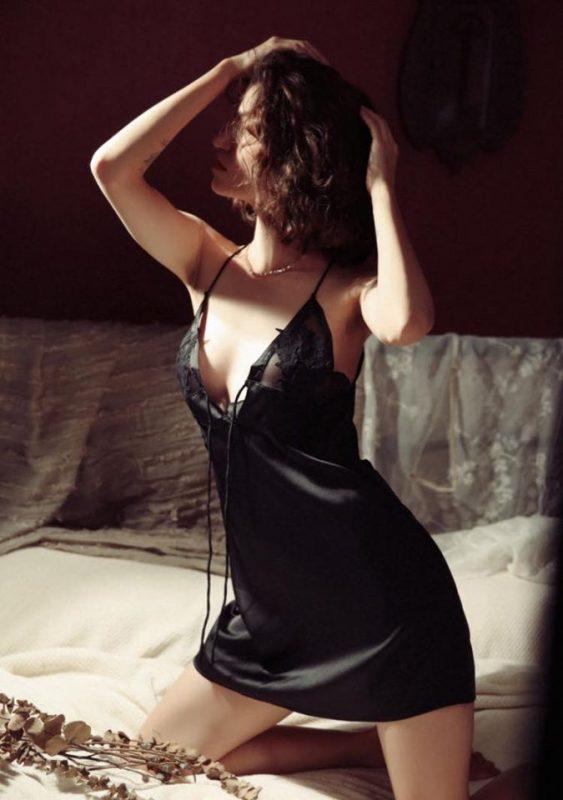 Váy Ngủ Lụa 2 Dây Gợi Cảm