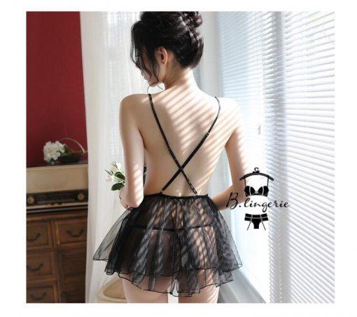 Váy Ngủ Cánh Chim Ren - D7802
