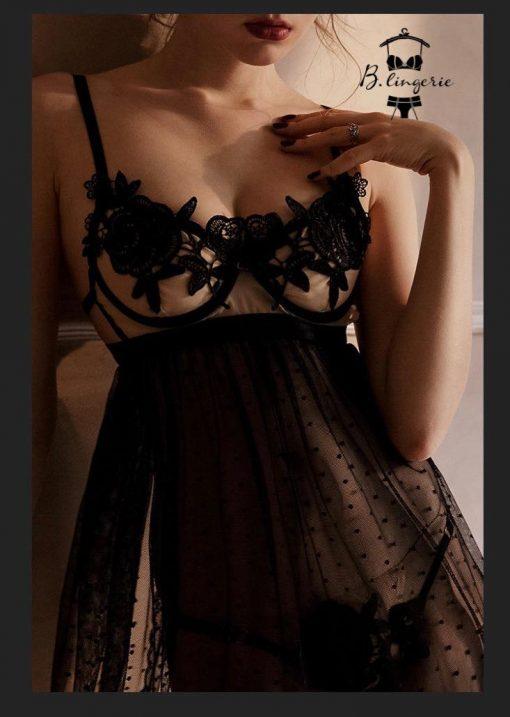 Đầm Ngủ Mỏng Xuyên Thấu