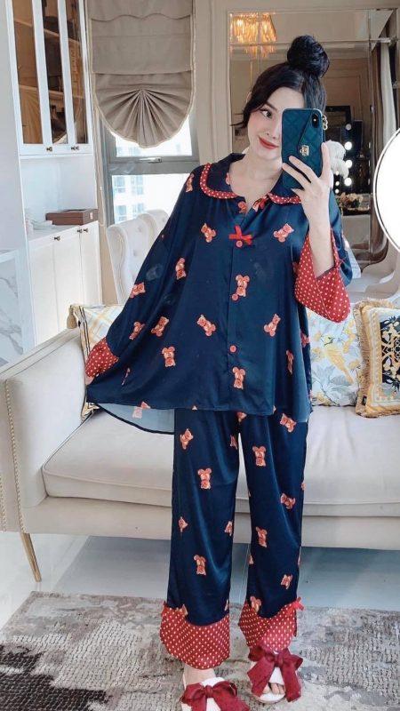 Bộ Đồ Ngủ Pijama Nữ Dài