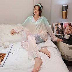 Đồ Pijama Lụa Satin Dài