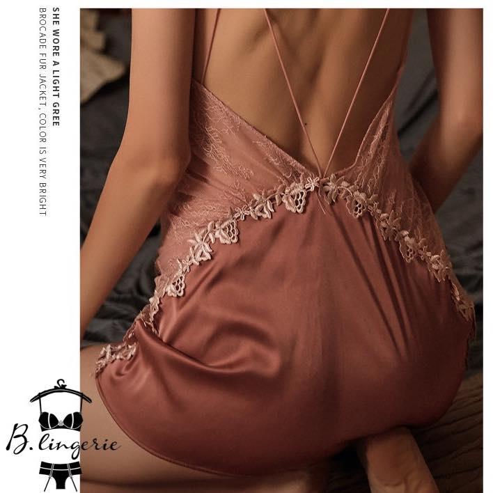 Đầm Ngủ Hở Lưng