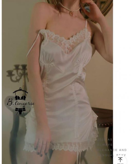Đầm Ngủ Hai Dây Satin Cuốn Hút