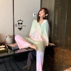 Đồ Pijama Lụa Satin Dài - BO936