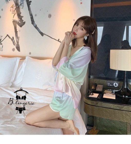Đồ Ngủ Pijama Lụa Lửng