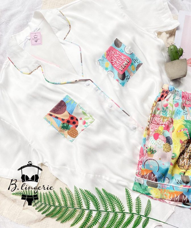 Đồ Bộ Nữ Pijama Ngắn