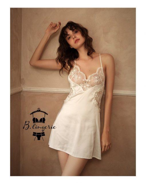 Đầm Ngủ 2 Dây Satin